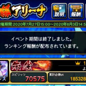 【プロスピA】TS第4弾 必勝アリーナ ボーダー結果は1.58億!<3・終>