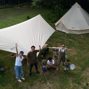 ナラ入沢渓流釣りキャンプ場でお盆キャンプ!
