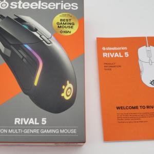 【レビュー】多ボタンマウス「steelseries rival 5」は最高の品質