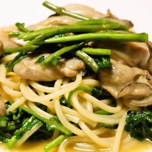 牡蠣とクレソンのスパゲッティ