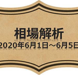 週末相場解析(ドル円)2020年6月1日~6月5日