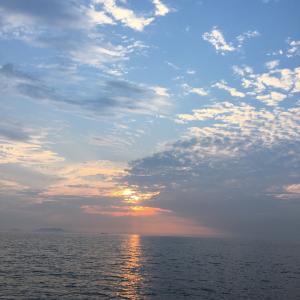 釣り人と美しい風景