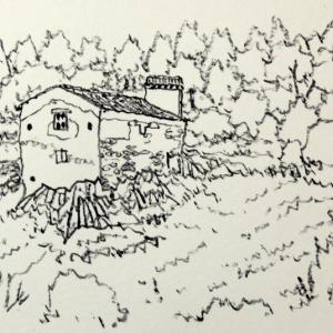 気になっていた、山の一軒家。