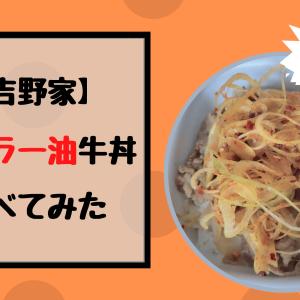 吉野家のねぎラー油牛丼食べてみたよ!味は?辛いの?