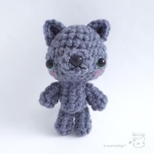 新作☆ロシアンブルーの猫ちゃんのあみぐるみ♡