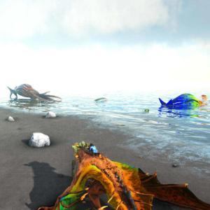 【Ark:Survival Evolved】イカ!大漁!【Crystal Isles】
