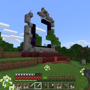 【Minecraft】ネザーの入り口?【Win10.ver】