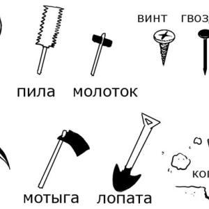 色々な道具に関するロシア語単語