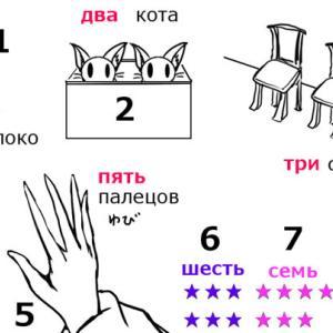 ロシア語の数(число)と個数詞