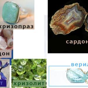 宝石・貴金属類のロシア語での表現
