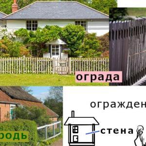 ограда(柵・塀)に関連するロシア語単語
