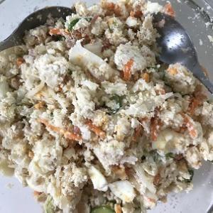ポテサラ風おからサラダは簡単美味☆&お酢の力で健康ダイエット71日目#149