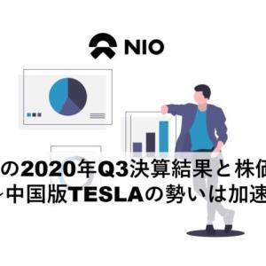 NIOの2020年第3四半期決算結果と株価推移~中国版TESLAの勢いは加速~