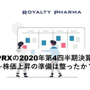 ロイヤリティファーマ(RPRX)の2020年第4四半期決算発表~株価上昇の準備は整ったか?~