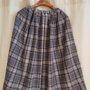 チェックのスカートできました♪