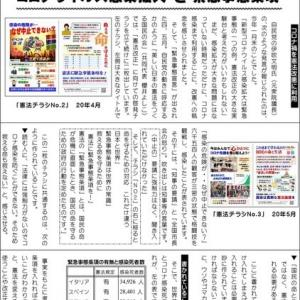 〔284〕今度は、朝日新聞「『アベノマスク』を使っていますか?」と「腰越九条ニュース」です。