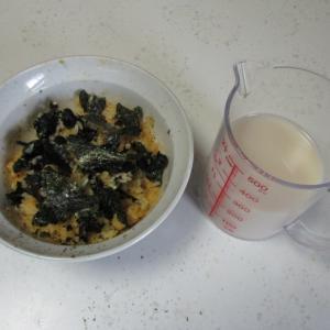 爽健美茶⇒卵かけご飯【血糖値管理】