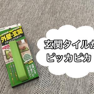 【やっと出会えた】玄関タイルの掃除にはこれが最強!洗剤いらずのスポンジ