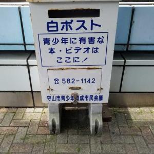 東海道本線(琵琶湖線)守山駅西口の白ポスト