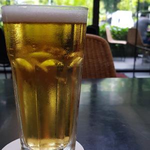 ビールとフライで乾杯@Psカフェ