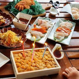 お誕生日ディナー。海鮮三昧でお祝い。