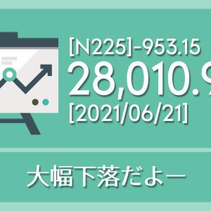 【2021/06/21】本日の東京株式市場メモと投資のヒント