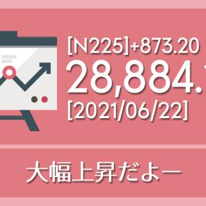【2021/06/22】本日の東京株式市場メモと投資のヒント