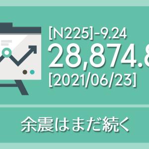 【2021/06/23】本日の東京株式市場メモと投資のヒント