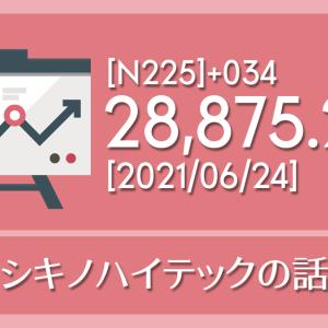 【2021/06/24】本日の東京株式市場メモと投資のヒント