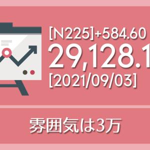 【2021/09/03】本日の東京株式市場メモと投資のヒント