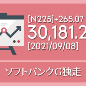 【2021/09/08】本日の東京株式市場メモと投資のヒント