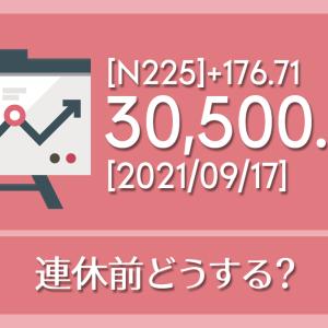【2021/09/17】本日の東京株式市場メモと投資のヒント