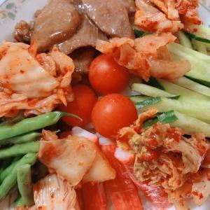 💖7/26 おうちスタミナ牛タンキムチ冷麺💖