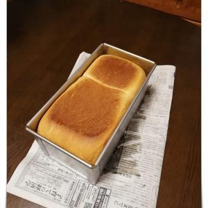 自宅で食パンを作ってみた! cottaさんで買ったアルタイト食パン型(2斤)で。