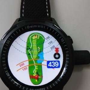 ゴルフ距離測定器 golfbuddy aim w10 ラウンド使用体験談