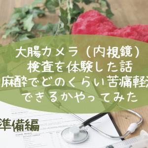 大腸カメラ(内視鏡)体験〜麻酔でどのくらい軽減できる?(準備編)