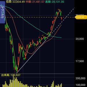 2020年6月3週目日経平均株価の予想
