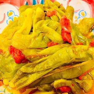 【夏野菜】イタリアのししとうフリッジテッリの蒸し煮♪