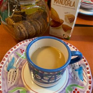 美容と健康に良い、アーモンドミルクで朝ごはん。