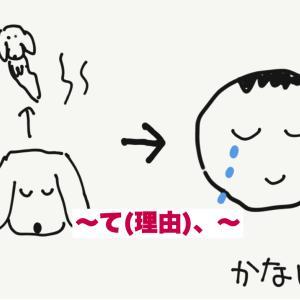できる日本語初中級第5課ST2 【イラスト】〜て(理由)、〜 DLあり