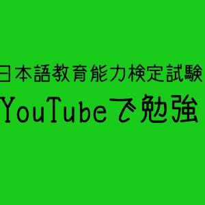 YouTubeで日本語教育能力検定試験の勉強、めがね先生~はま先生