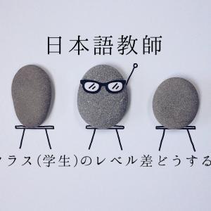 【日本語教師】クラス(学生)のレベルの差をどうするか。