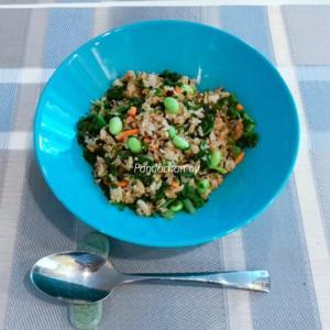 やる気0ゼロ日トレジョJapanese Rice+Spinach