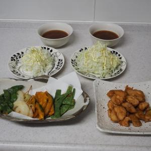 生姜がたっぷりの鶏むね肉スープ 月見団子~♡