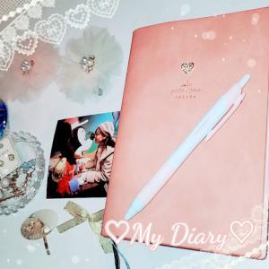 ♡愛用の手帳(日記)とボールペン♡今日もありがとうございました♡