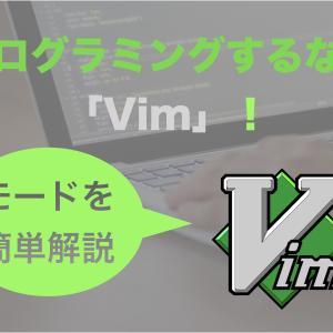 プログラムを書くなら『Vim』がオススメ!魅力的なモードを簡単に解説!