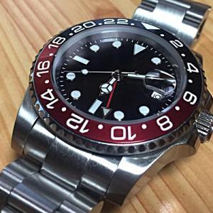 ノーロゴGMTタイプの腕時計(改造)