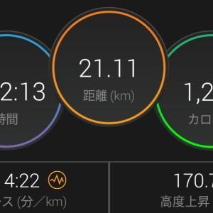 週末ひとりTATTAマラソン(ハーフ)完走しました!