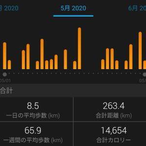 5月は263km!