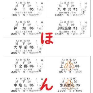 上田電鉄、城下駅発の硬券乗車券を発売